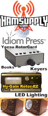 Ham Supply / Idiom Press provides Amateur (Ham) Radio Digital CW and Voice Keyers, Rotor Controllers, LED Lighting, Bandwidth Filters, Electronic Kits